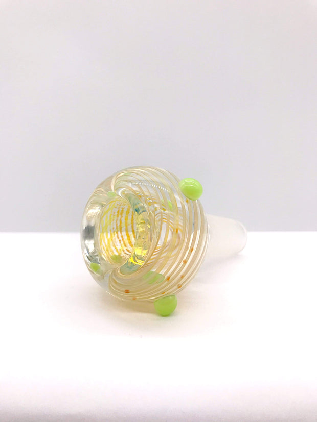 Smoke Station Waterpipe Bowl Thick Fumed Waterpipe Bowl with Linework Fuming - 14mm