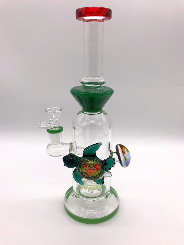 Smoke Station Water Pipe Dark-Green Thick Heady Aquatic Perc Beaker Water Pipe