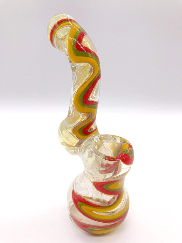 Smoke Station Water Pipe Thick Heady Bubbler with Linework