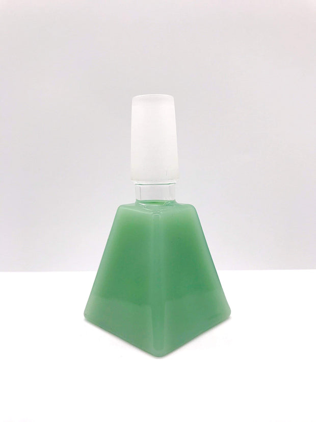 Smoke Station Waterpipe Bowl Green Thick Square-Cut Waterpipe Bowl - 14mm