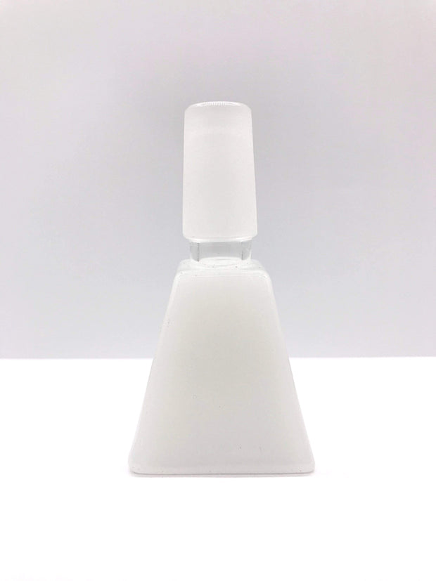 Smoke Station Waterpipe Bowl White Thick Square-Cut Waterpipe Bowl - 14mm