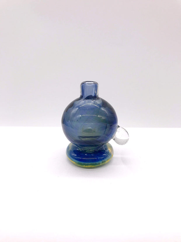 Smoke Station Carb Cap Translucent-Blue Thick Translucent Colored Carb Cap