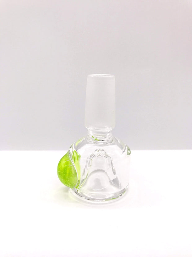 Smoke Station Waterpipe Bowl Slime Thick Waterpipe Bowl with Bubble Accent