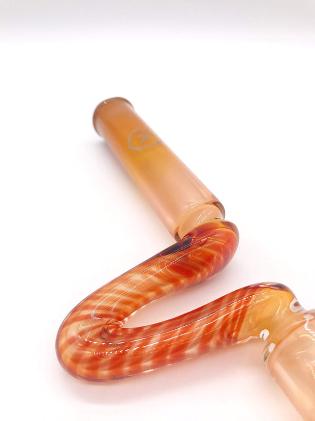 Smoke Station Hand Pipe Orange Zenesis Glass American Borosilicate Steamroller