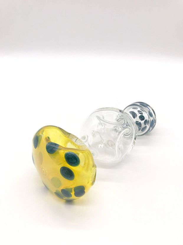 Smoke Station Hand Pipe Blue-Dots Zenesis Glass Spoon Hand Pipe