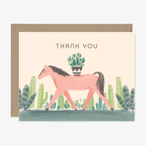 Wild Mustang Thank You Card