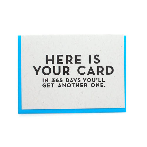 Here Is Your Card