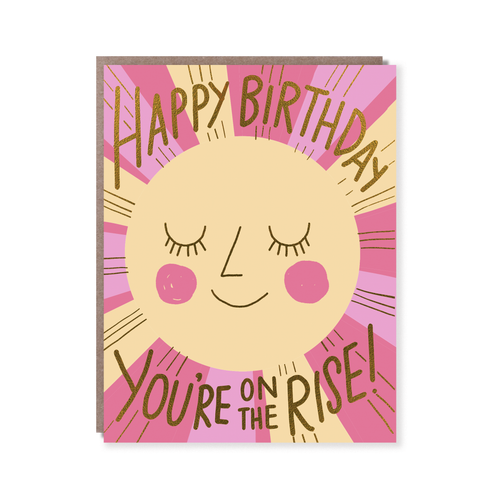 Rise Birthday Card