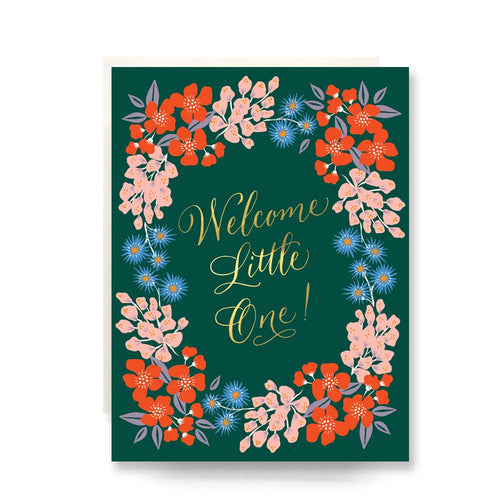 Wildflowers Welcome Little One Card