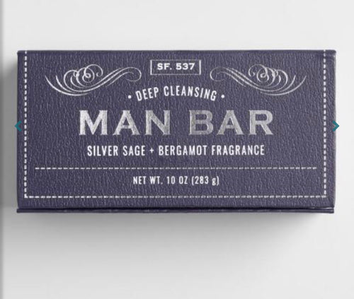 Deep Cleansing Silver Sage & Bergamot Man Bar - Shopmuddypearl