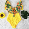 High Waist Ruffle Bikini Set