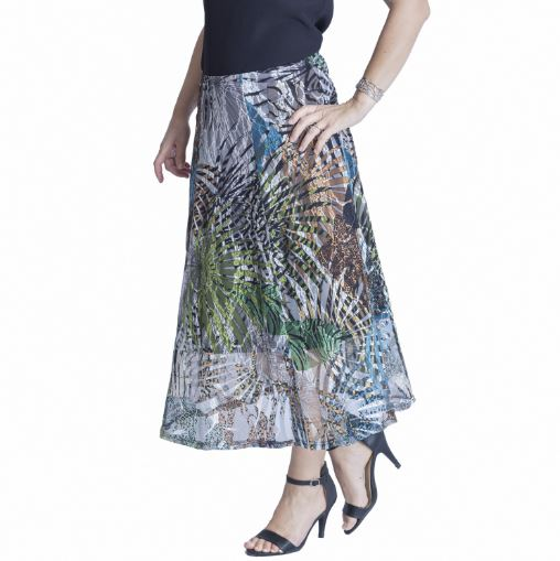 Pause Cafe Stretch net skirt 19755