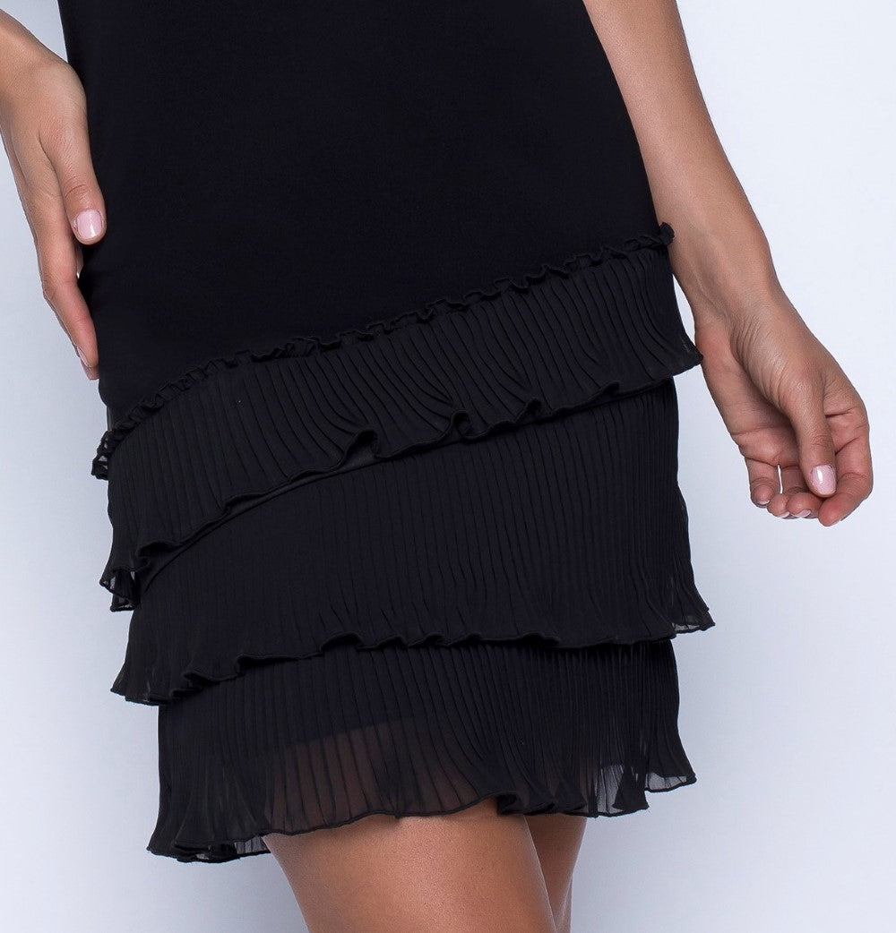 Frank Lyman Black Ruffle Dress 201016