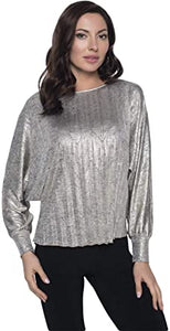 Frank Lyman Gold Knit Top 203301