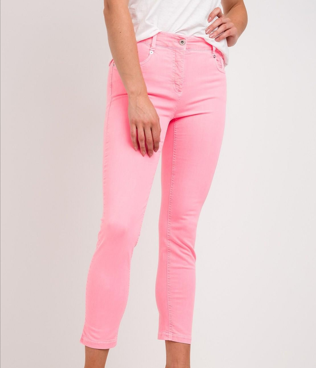 Robell 51584 Bubble Gum Pink 7/8th Jeans