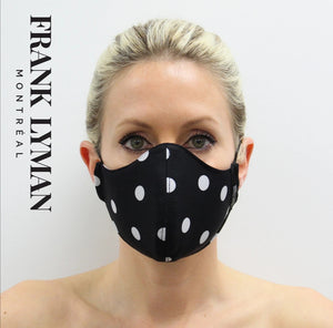 Frank Lyman Black Spotty Face Mask