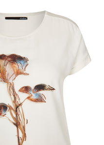 Le Comte Cream Flower T-Shirt 611302