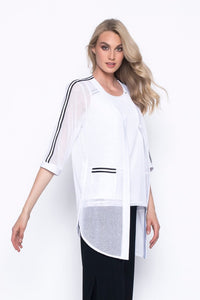 Picadilly White Sporty Jacket YF560
