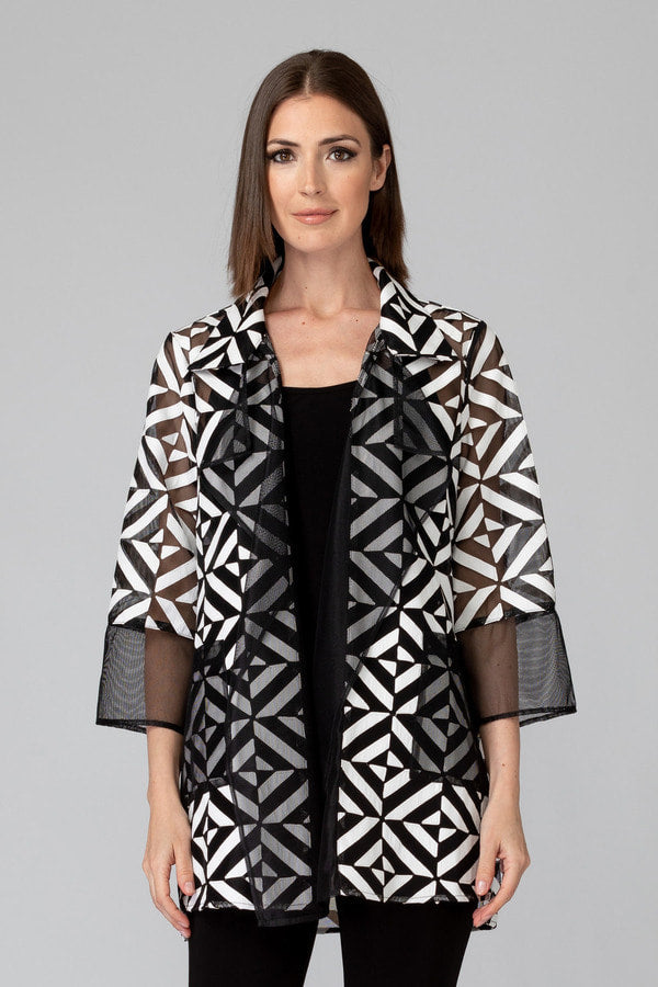 193304 Joseph Ribkoff Black/White Jacket