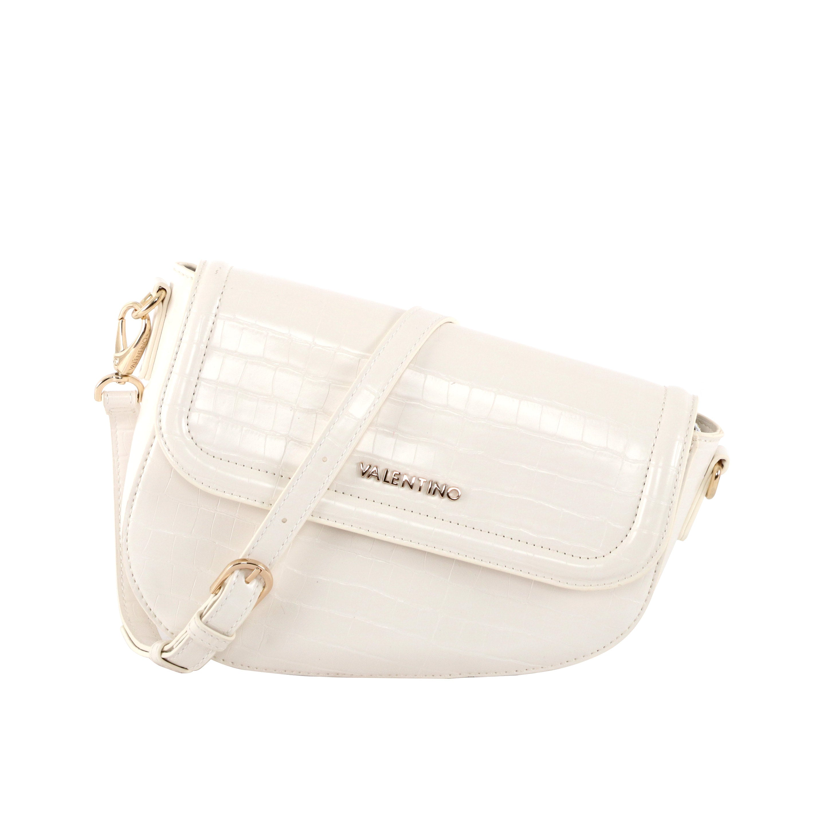 Valentino White Bicorno Bag