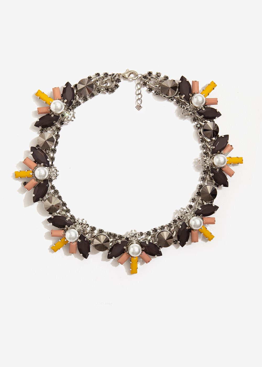 Nali Necklace Pearl Mustard