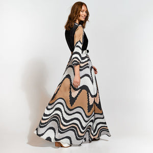 Access Maxi Dress Geometric Pattern 3524