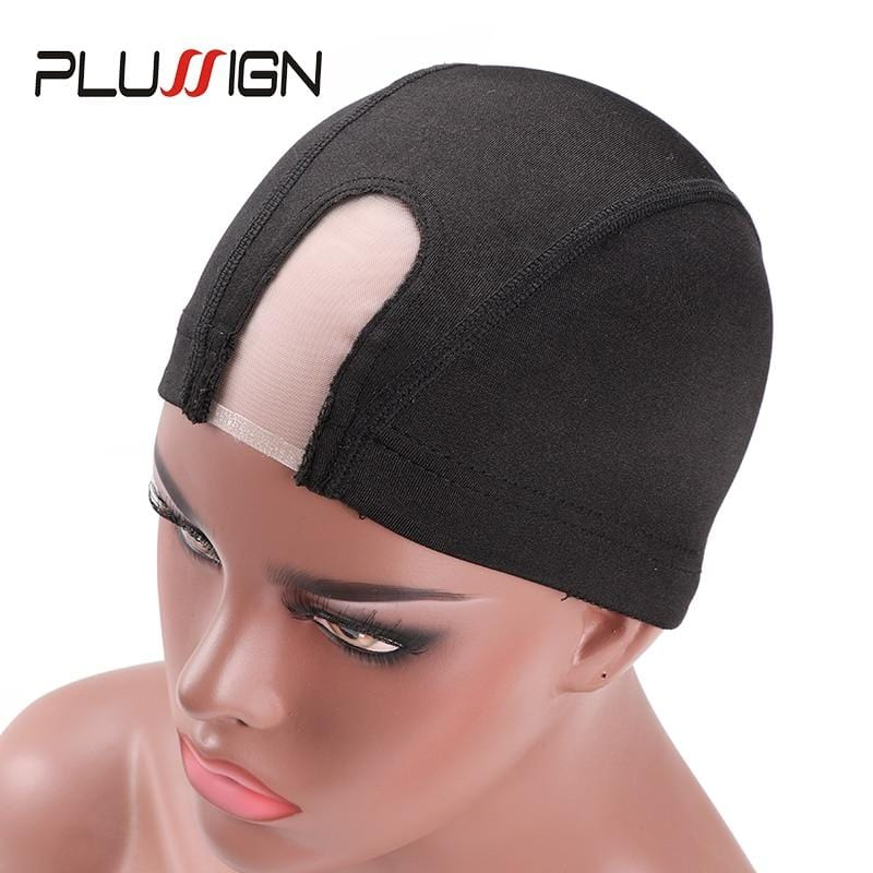 Small Medium Large Size U Part Dome Mesh Cap Strechable Wave Cap Hairnet Mono Lace Caps Plussign Dome Cap For Wig Making 1Pcs