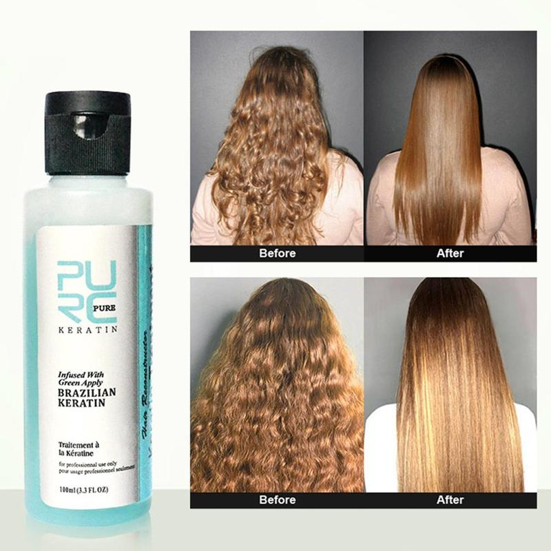 Red Protein Therapy Repair Shampoo Keratin Hair Treatment Straight Damage Hair Repair Curly Keratina Para Alisado Del Cabello