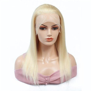 Bob Wig Straight Frontal Wig Blonde Lace Front Human Hair