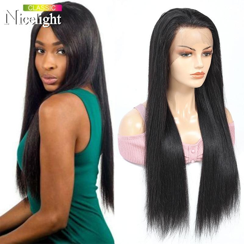 Long Straight Lace Frontal Human Hair Wig Lacefront Wig Peruvian Wig Lace Front Wigs Nicelight 13X4 Lace Closure Wig Weaves Wigs