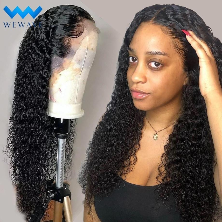 lace front human hair wigs for Black Women deep wave curly hd frontal bob wig brazilian afro short long 30 inch water wig full