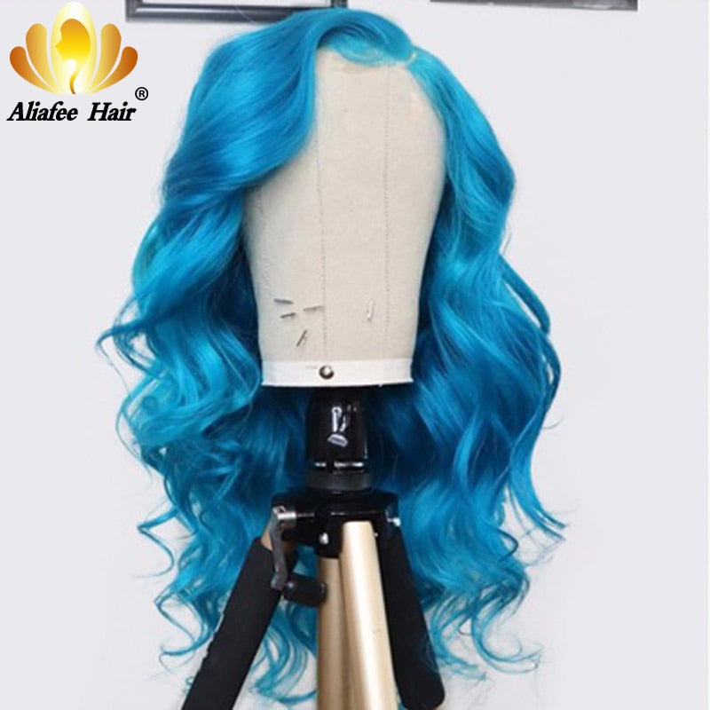 Color Human Hair Wigs 13x4 Body Wave Lace Front Wig