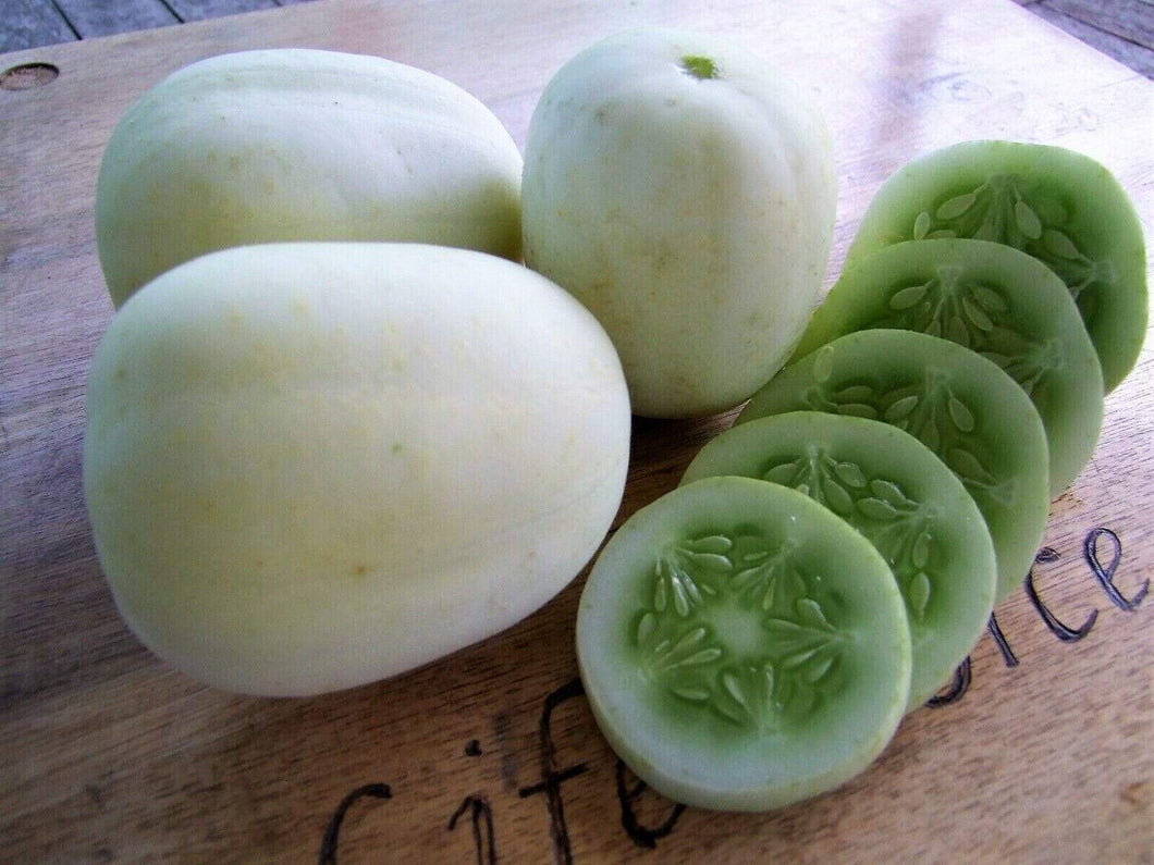 Cucumber, Crystal Apple -  Organic Heirloom vegetable seed Australia LifeForce Seeds