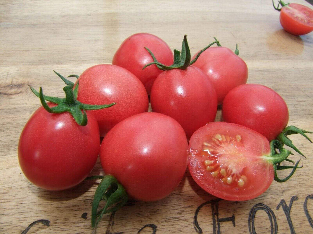 Tomato, Pearly Pink -  Organic Heirloom vegetable seed Australia LifeForce Seeds