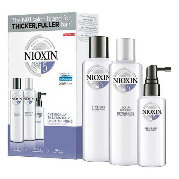 Unisex Hair Dressing Set System 5 Nioxin (3 pcs) Anti-fall Coloured hair
