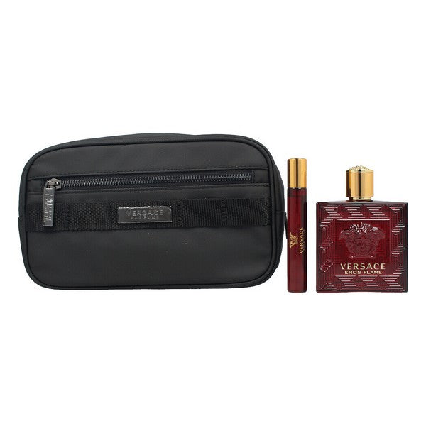 Men's Perfume Set Eros Flame Versace EDP (3 pcs)