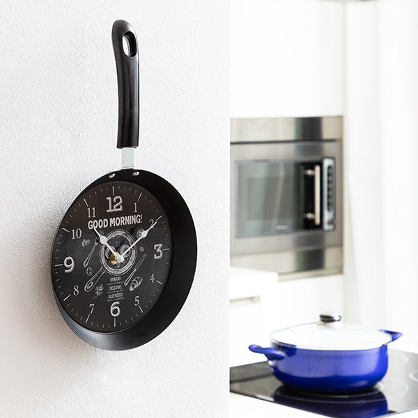 Wall Clock Pan Bistro