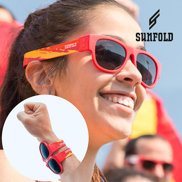 Red Sunfold Spain Roll-Up Sunglasses