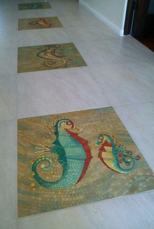 Custom Mosaic Floor Tiles