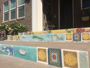 Decorative Porch Mosaic