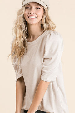 It's the Sleeves Top in Oatmeal