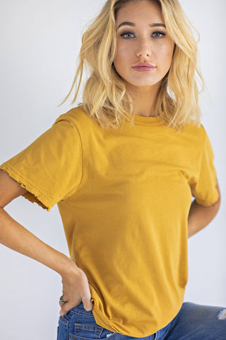 Butterscotch Crew Neck Tee by Melted Velvet