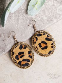 Paw-sitively Perfect Leopard Circle Earrings