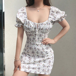 White Casual Floral Women Dress