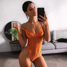 Load image into Gallery viewer, Cryptographic hot sale sheer lace bodysuit