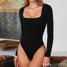 Load image into Gallery viewer, Long Sleeve Knitted Skinny Bodysuit