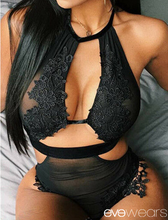 Load image into Gallery viewer, Women's Lingerie Bodysuits Lace