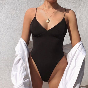 Neck Fashion Black Bodysuit