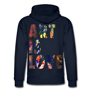 Abstract ART IS LOVE Hoodie - Navy