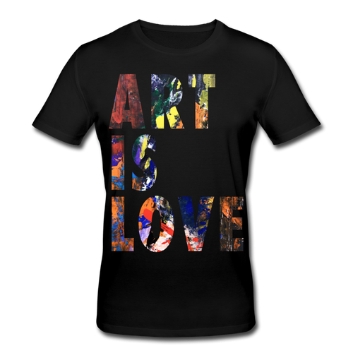 Abstract ART IS LOVE T-Shirt - Schwarz